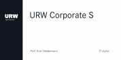 URW Corporate S font download