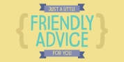 Friendly Advice font download