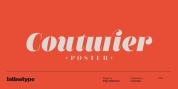 Couturier Poster font download