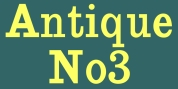 AntiqueNo3 font download