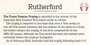 Rutherford font download
