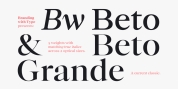 Bw Beto font download