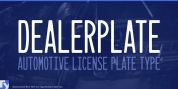 Dealerplate font download