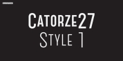 Catorze27 Style 1 font download