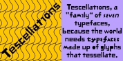 Tescellations font download