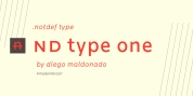 nd type one font download