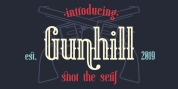 Gunhill font download