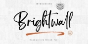 Brightwall font download