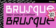 Brusque font download