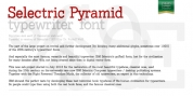 Selectric Pyramid font download
