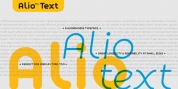 Alio Text font download