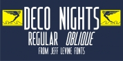 Deco Nights JNL font download