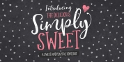 Simply Sweet font download