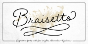 Braisetto font download