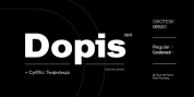 Dopis font download