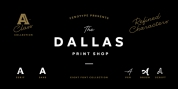 Dallas Print Shop font download