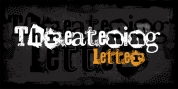 Threatening Letter font download