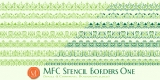 MFC Stencil Borders One font download