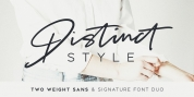 Distinct Style font download