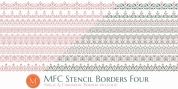 MFC Stencil Borders Four font download