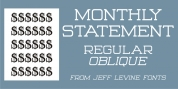Monthly Statement JNL font download