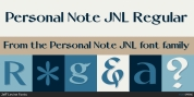 Personal Note JNL font download