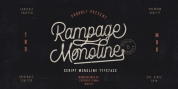 Rampage Monoline font download