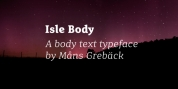 Isle Body font download