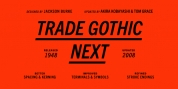 Trade Gothic Next font download