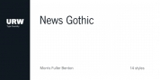 News Gothic font download