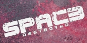 Spac3 Destroyed font download