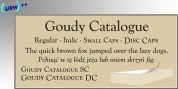Goudy Catalogue font download