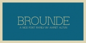 Brounde font download