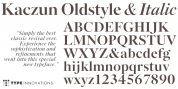 Kaczun Oldstyle Bold font download