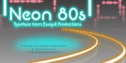 Neon 80s font download