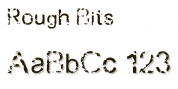 Rough Bits font download
