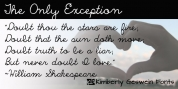 The Only Exception font download