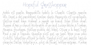 HopefulGrasshopper font download