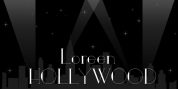 Loreen Hollywood font download