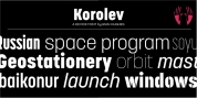 Korolev Military Stencil font download