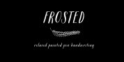 Frosted font download