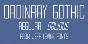 Ordinary Gothic JNL font download