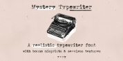 Mystery Typewriter font download