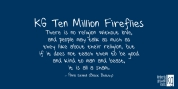 KG Ten Million Fireflies font download