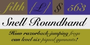Snell Roundhand font download