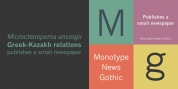Monotype News Gothic font download