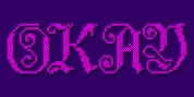 Cross Stitch Elaborate font download