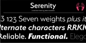 Serenity font download