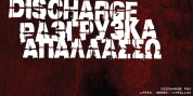 Discharge Pro font download