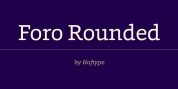 Foro Rounded font download